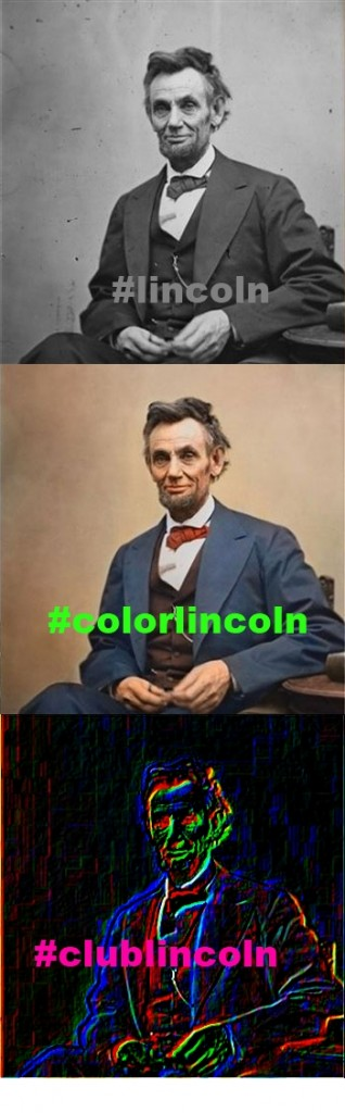 by Kenneth Udut, inspired by new color Lincoln art.