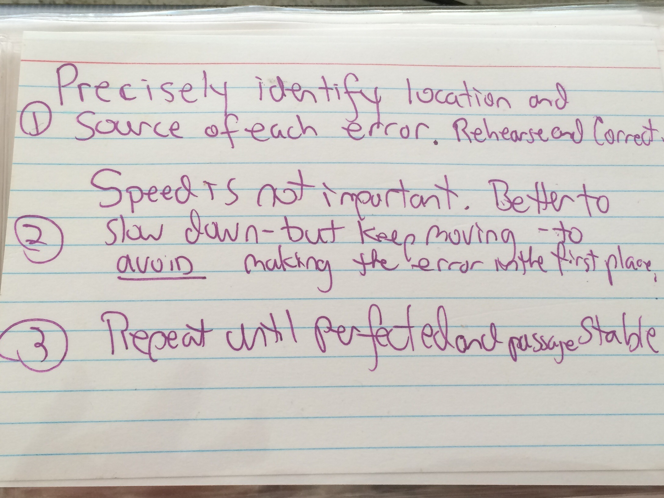 Precisely identify location and source of each error.  Rehearse and correct.  Speed is not important.  Better to slow down - but keep moving - to AVOID making the error in the first place.  Repeat until Perfect and passage stable.