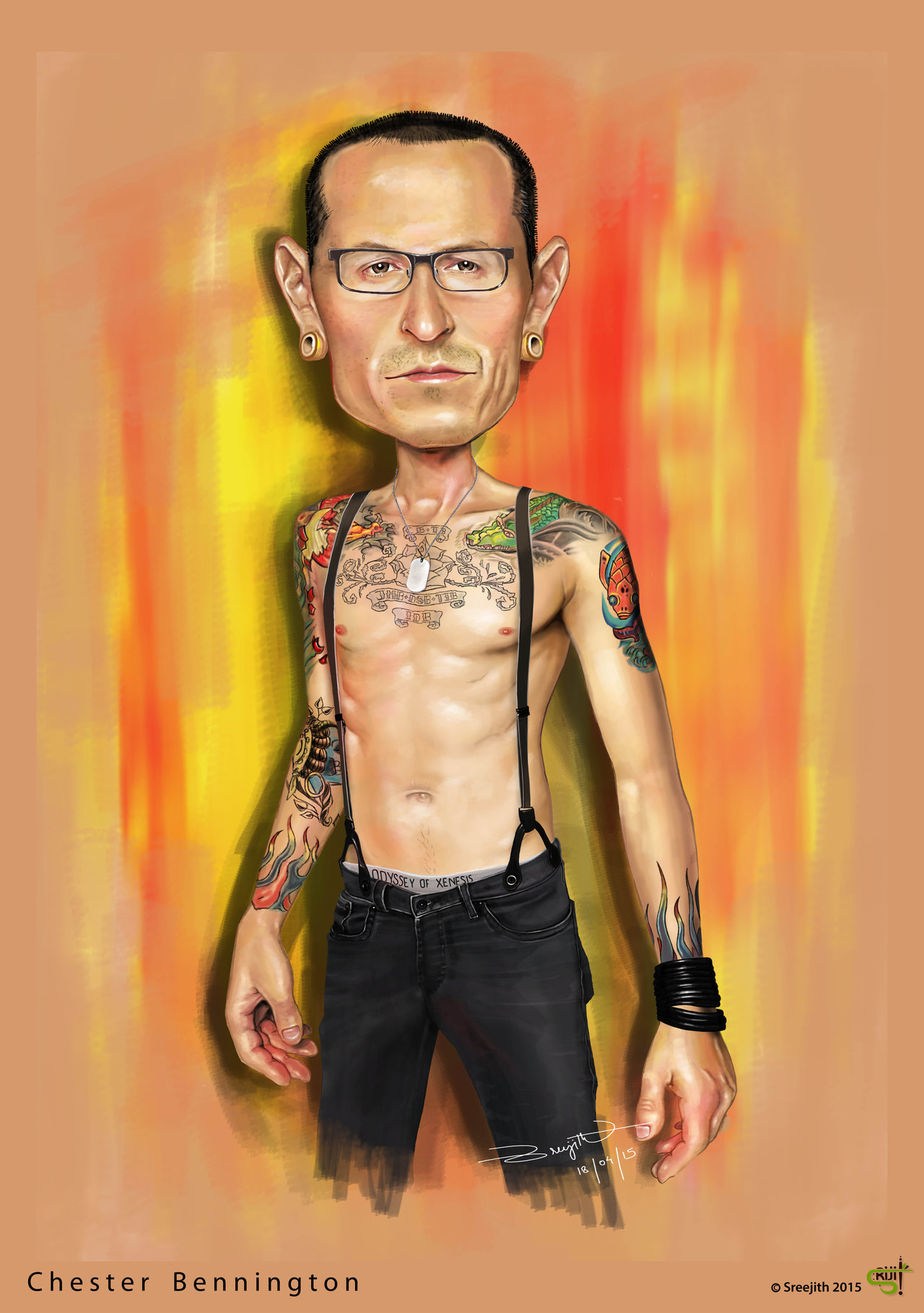 chester_bennington_caricature_by_srijitu-d8q4gf5
