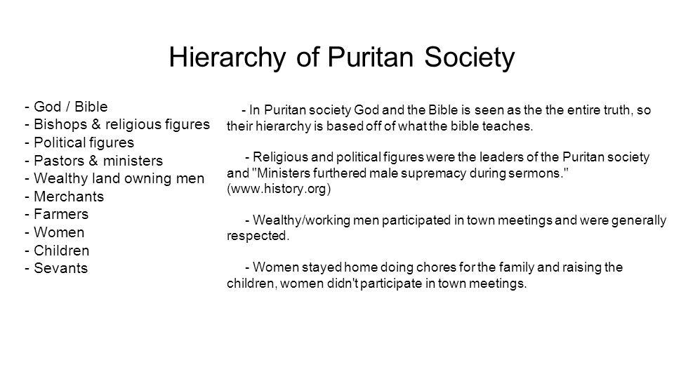 Hierarchy+of+Puritan+Society